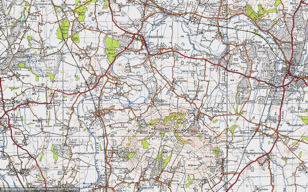 Old Map of Historic Map covering Banbury Stone in 1946