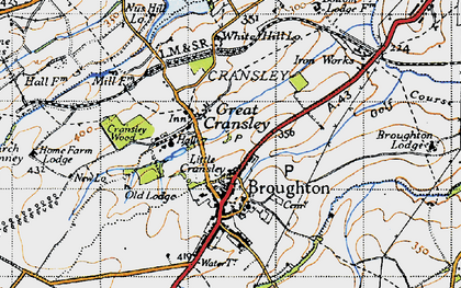 Old map of White Hill Lodge in 1946
