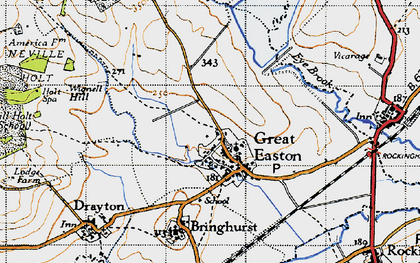 Old map of Wignell Hill in 1946