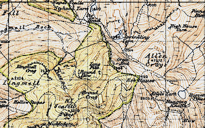 Old map of Tongue Head in 1947