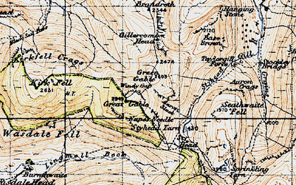 Old map of Aaron Slack in 1947