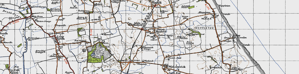Old map of Withernick Grange in 1947