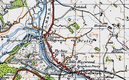 Old map of Tolldish in 1946