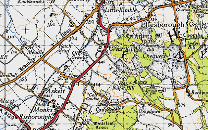 Old map of Great Kimble in 1947