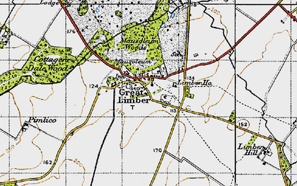 Old map of Limber Hill in 1946