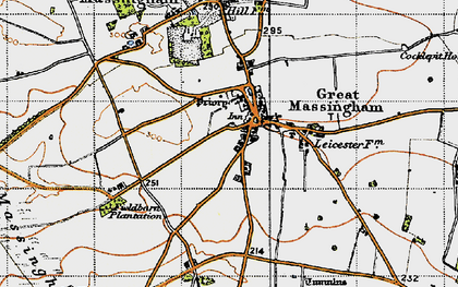 Old map of Great Massingham in 1946