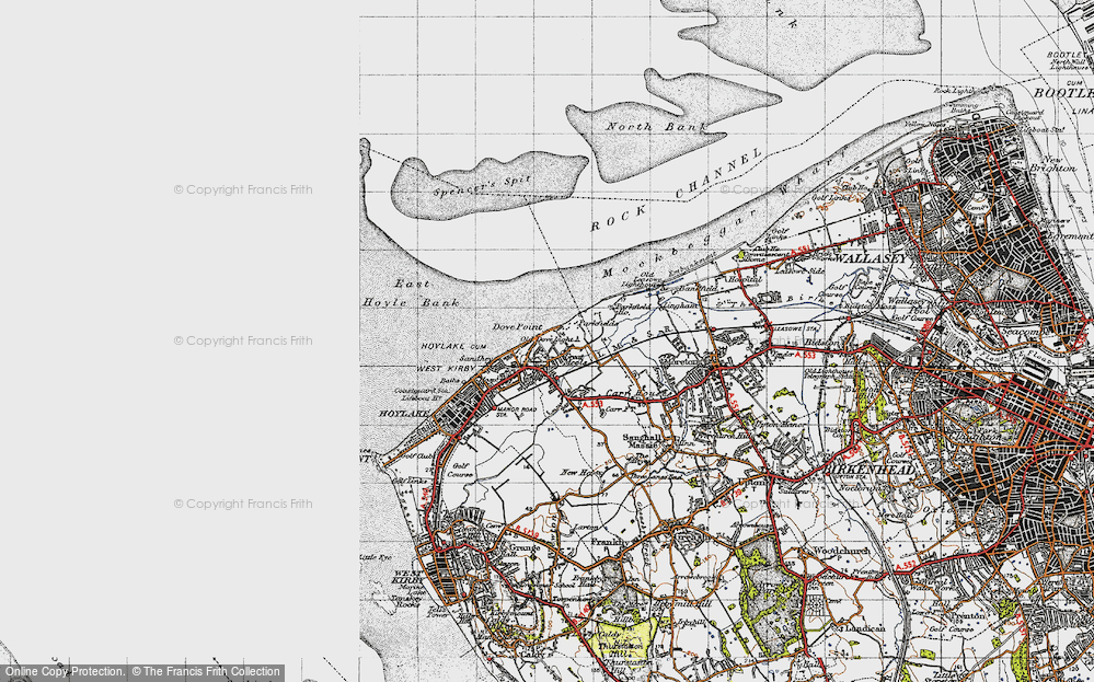 Old Map of Great Meols, 1947 in 1947