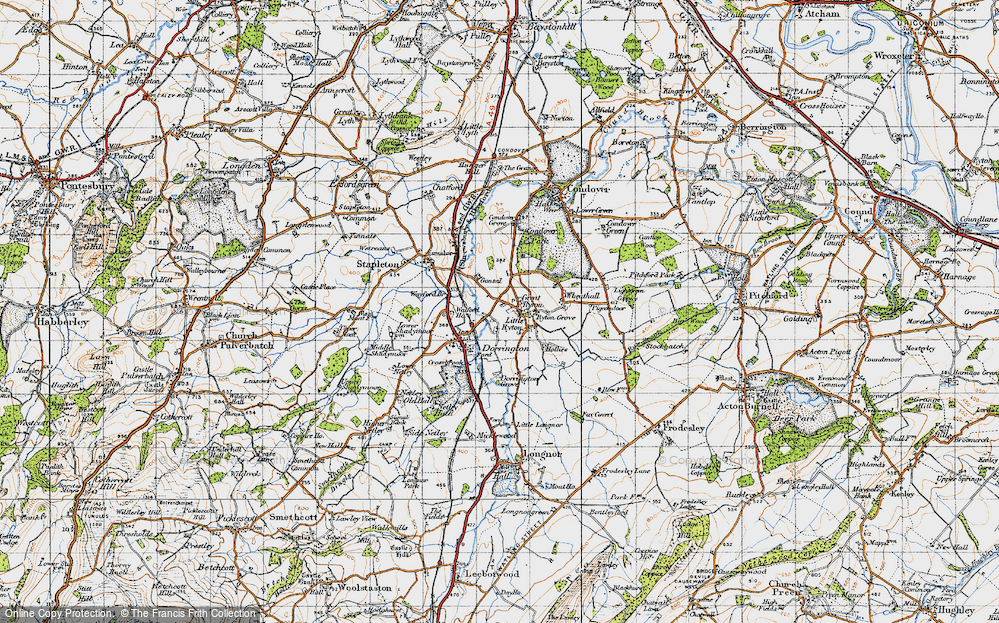 Old Map of Great Ryton, 1947 in 1947