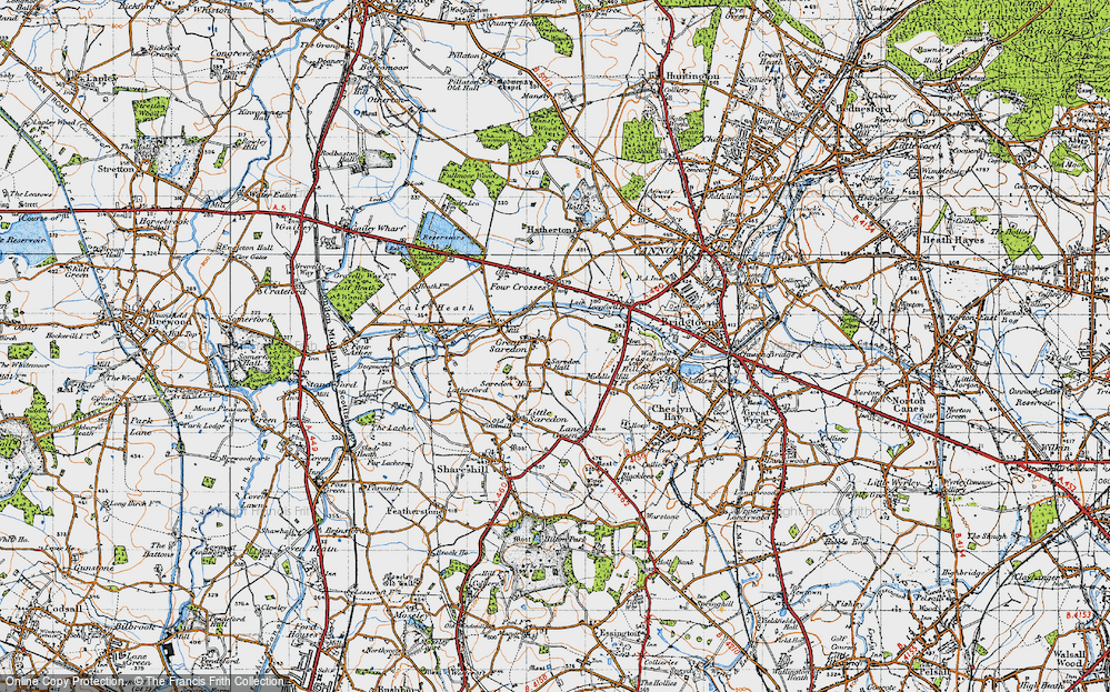 Old Map of Great Saredon, 1946 in 1946