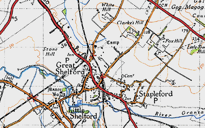 Old map of Great Shelford in 1946