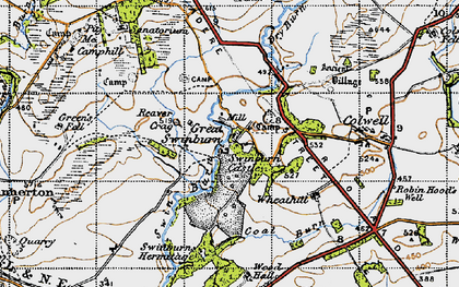 Old map of Wheathill in 1947