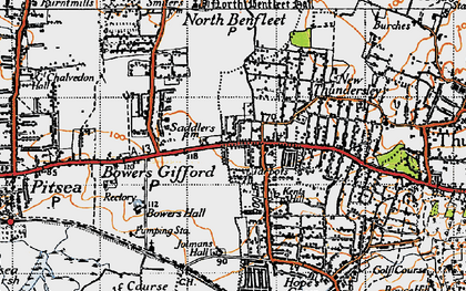 Old map of Great Tarpots in 1945