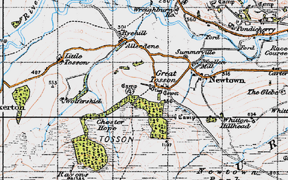 Old map of Wolfershiel in 1947