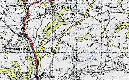 Old map of Great Tree in 1946