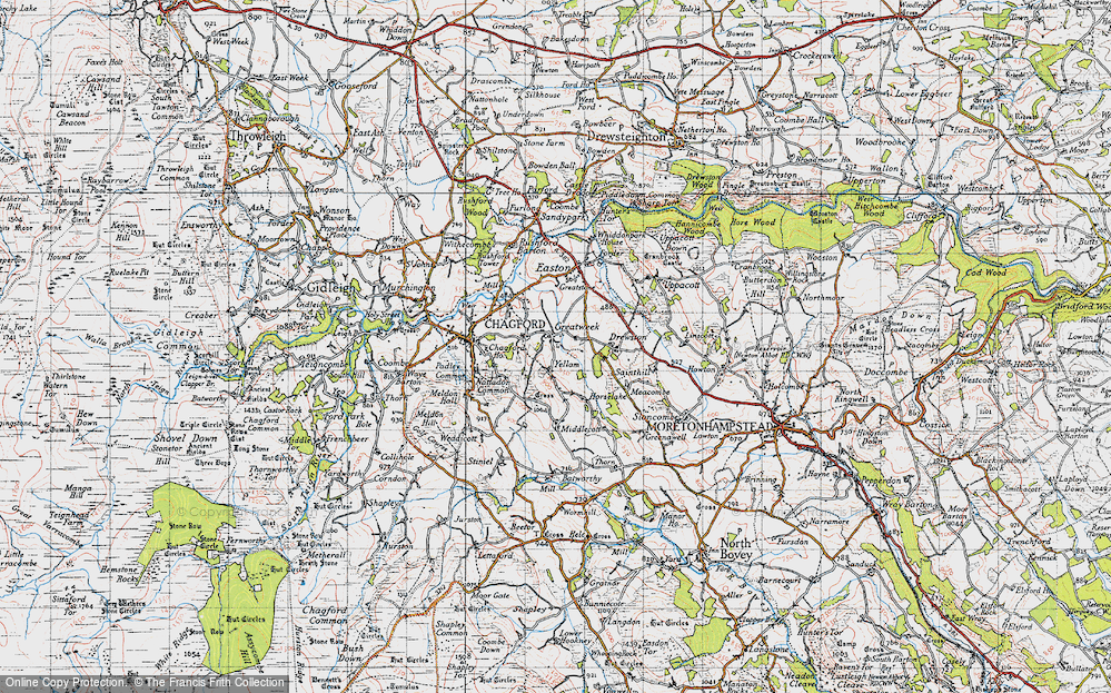 Old Map of Historic Map covering Yellam in 1946
