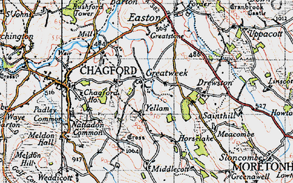 Old map of Yellam in 1946