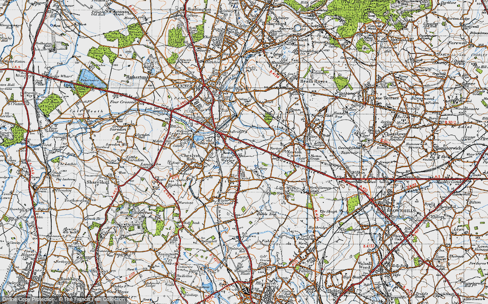 Old Map of Great Wyrley, 1946 in 1946