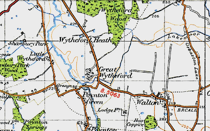 Old map of White Lodge in 1947
