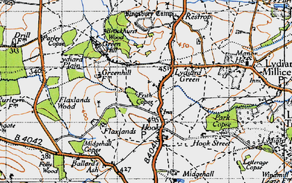 Old map of Greatfield in 1947
