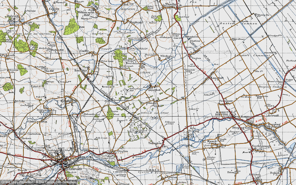 Old Map of Historic Map covering Banthorpe Wood in 1946