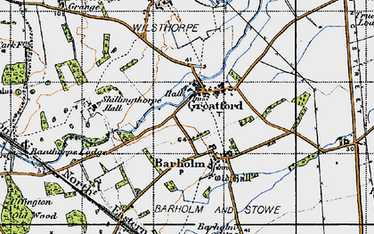 Old map of Banthorpe Wood in 1946