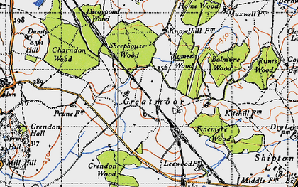 Old map of Balmore Wood in 1946