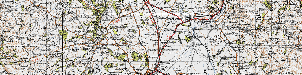 Old map of Accar Las in 1947