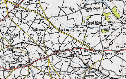 Old map of Green Bottom in 1946
