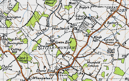 Old map of Green End in 1946