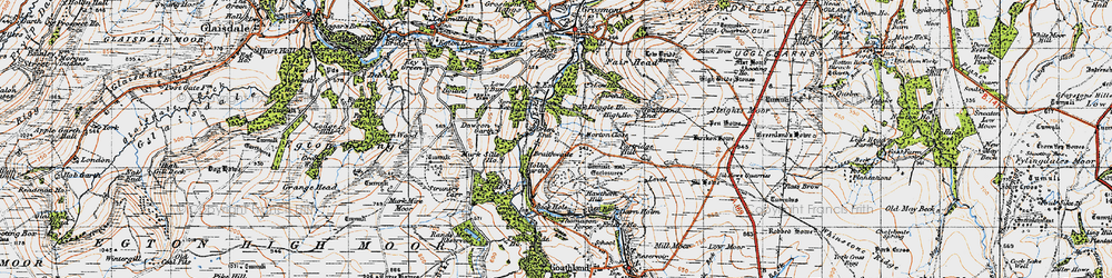 Old map of Beck Hole in 1947
