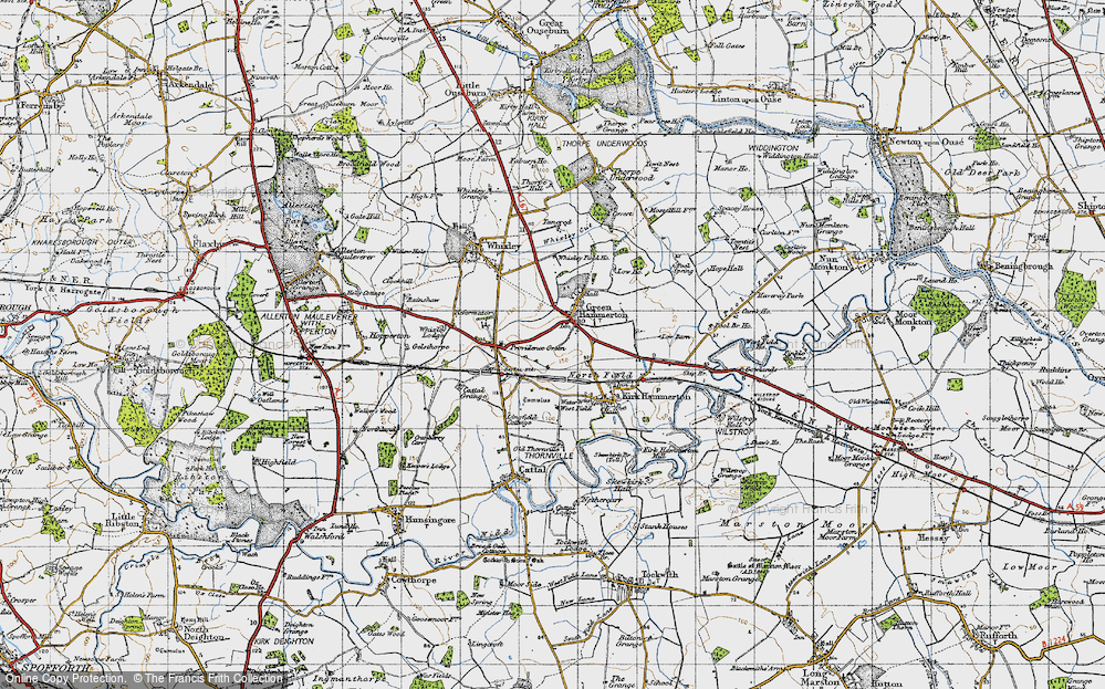 Old Map of Green Hammerton, 1947 in 1947