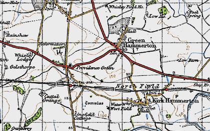 Old map of Green Hammerton in 1947