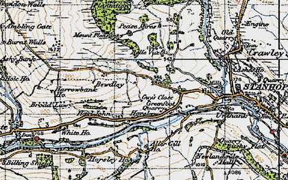 Old map of Aller Gill in 1947