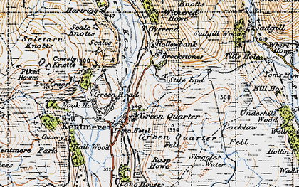 Old map of Withered Howe in 1947