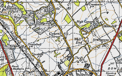 Old map of Green Street in 1946