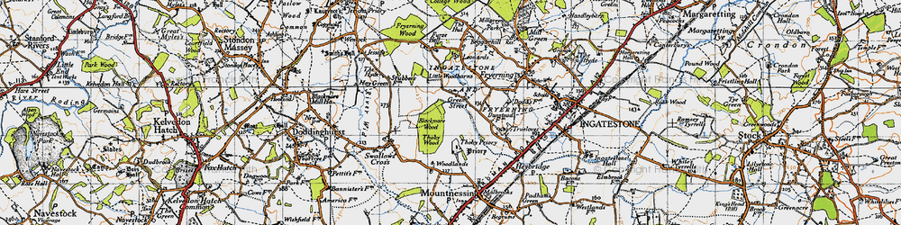 Old map of Woodlands Farmhouse in 1946