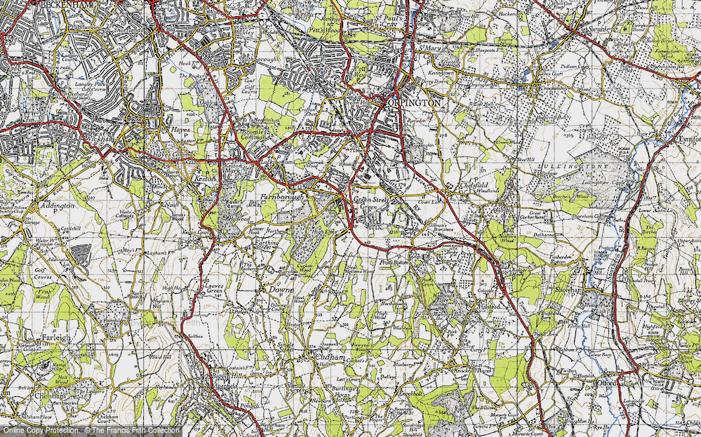Old Map of Green Street Green, 1946 in 1946