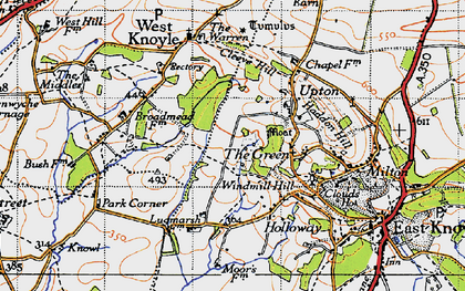 Old map of Green, The in 1945