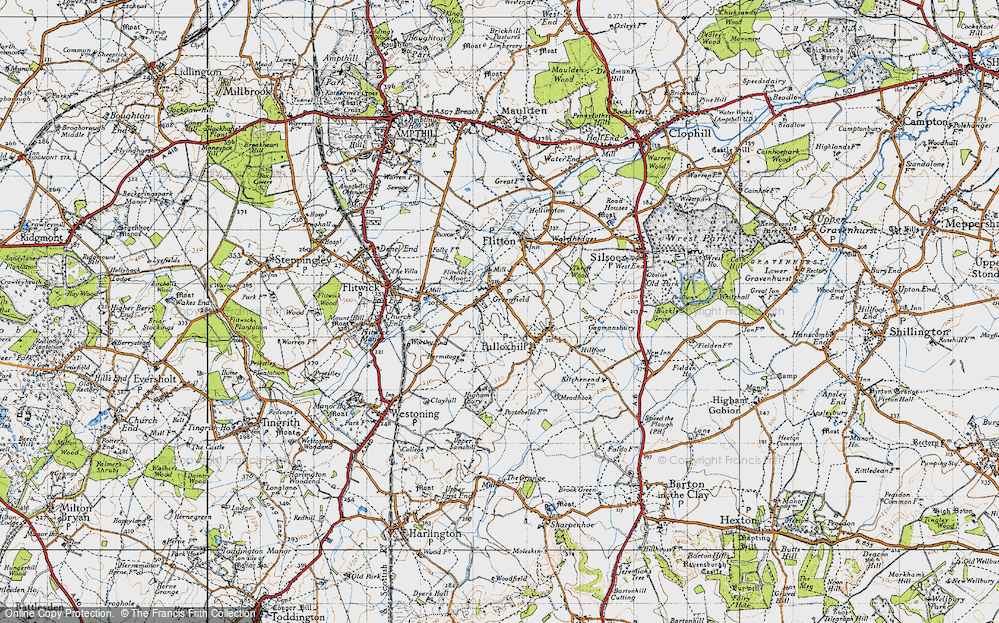 Old Map of Greenfield, 1946 in 1946
