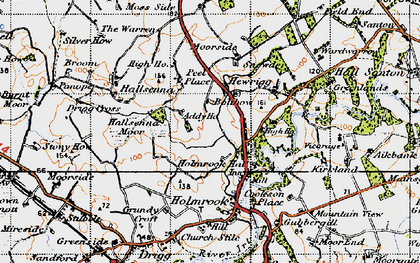 Old map of Greengarth Hall in 1947