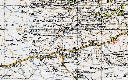 Old map of Lily Green in 1947