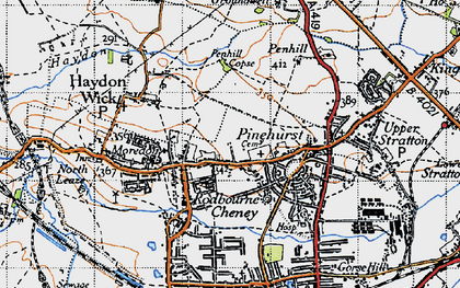 Old map of Greenmeadow in 1947