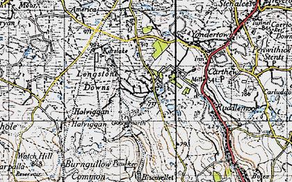 Old map of Greensplat in 1946