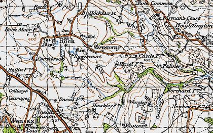 Old map of Worsley Ho in 1947