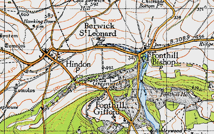 Old map of Greenwich in 1940
