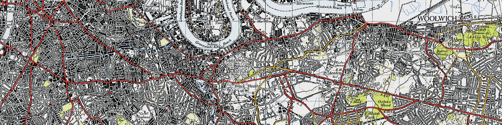 Old map of Greenwich in 1946