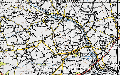 Old map of Greenwith Common in 1946