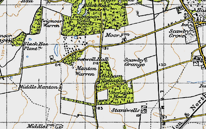 Old map of Greetwell in 1947