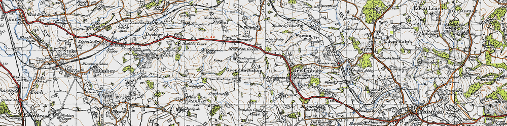 Old map of Westington Court in 1947