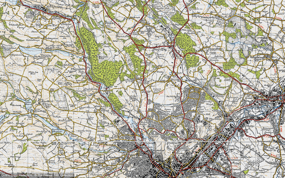 Old Map of Grenoside, 1947 in 1947